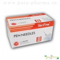 Verifine Aiguilles pour stylos à insuline 8mm